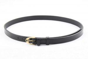 Cintura con fibbia a staffa inglese in ottone da 19 mm adatta per pantaloni da equitazione.