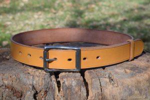 Cintura da uomo in cuoio con fibbia intera da 37 mm in acciaio inox.