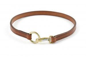 Porta medaglietta in cuoio taglia M adatto a cani di media taglia.