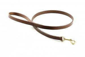 Guinzaglio da 100 cm largo 16 mm in cuoio adatto a cani di taglia media.