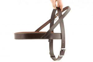 pettorina norvegese con anello libero taglia M con imbottitura in pelle adatta a cani di taglia media.