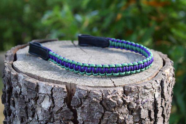 Frontalino in corda intrecciata a 2 colori realizzato su misura, 18 colori disponibili per infinite combinazioni.