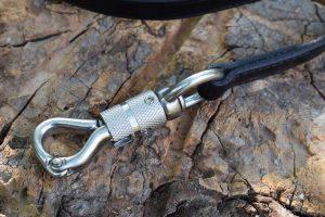 Moschettone di sicurezza in acciaio inox - chiuso