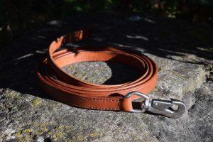 Longia da 200 cm larga 19 mm in cuoio adatta per l'addestramento di cani taglia media e grossa