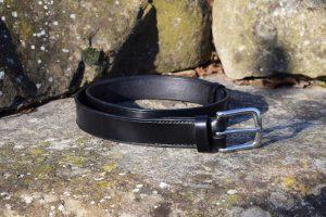 cintura da uomo in cuoio da 32 mm con fibbia in acciaio inox nickel free